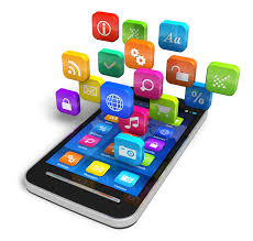 smartphone avec ses applications mobile téléchargeées