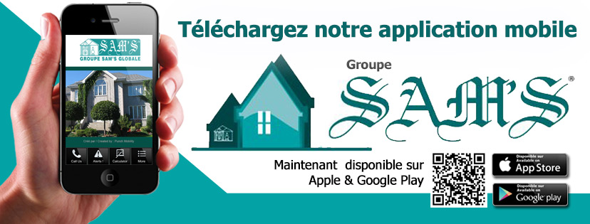 Bannière de l application gestion immobiliere sams